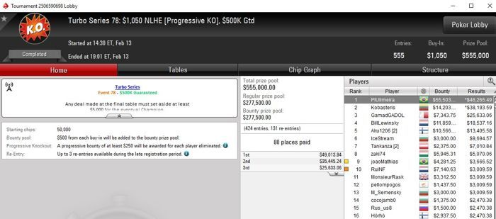 Lobby de poker do PokerStars