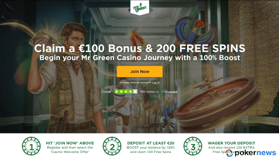 Mr Green Casino Bonus in April 2019