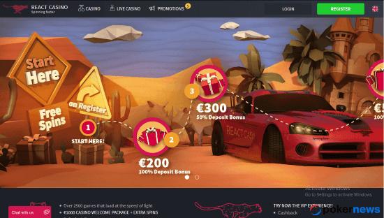 React Casino latest casino bonuses codes