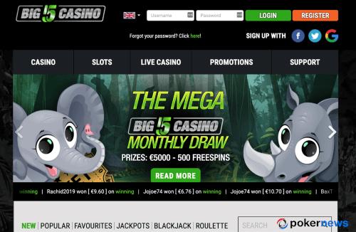 New Casino Bonus Big5 April