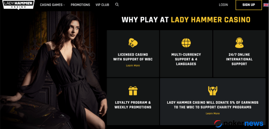 Lady Hammer Casino new bonus codes