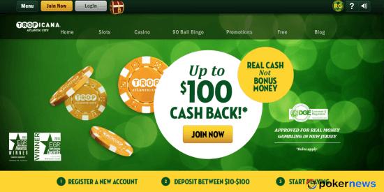 Tropicana Casino NJ Bonus