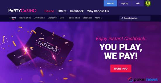 PartyCasino NJ Bonus