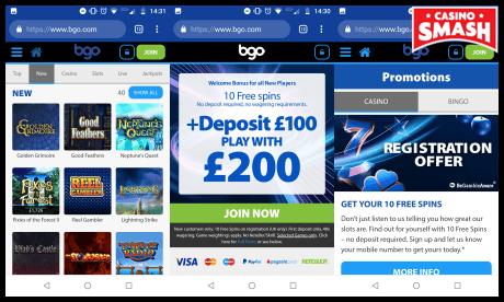 bgo mobile casino