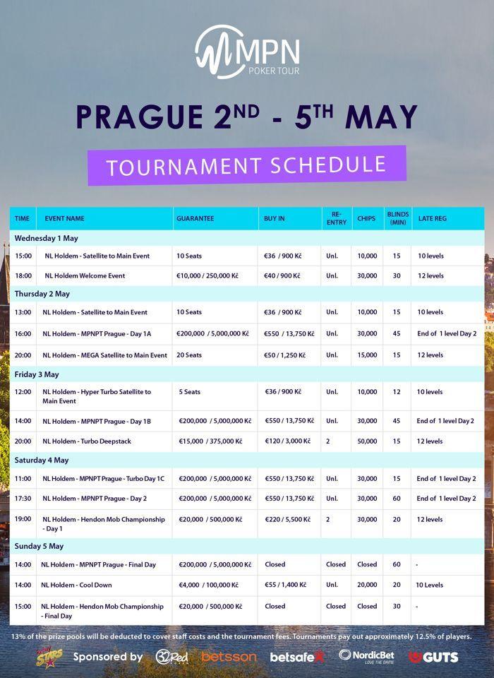 MPN Poker Tour фестивал с €250,000 GTD от 1 до 5 май в Прага 101