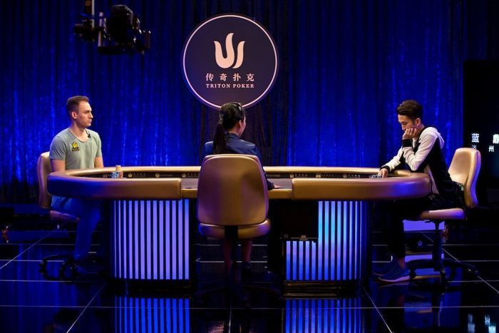 Justin Bonomo and Yue Wei Hsiang prepared for a heads-up battle.