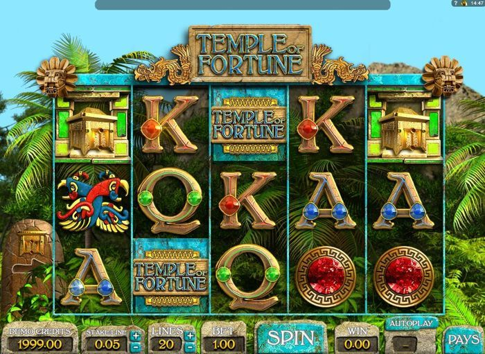 temple of fortune slots online play