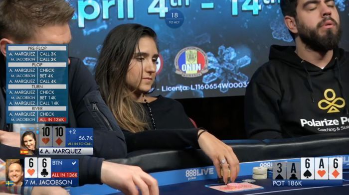 Martin Jacobson & Ana Marquez Analyze 888Live Bucharest High Roller Clash 102