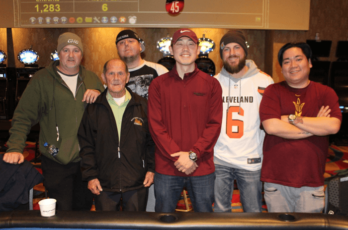 The HPT Hollywood St. Louis Event #1 final six players struck a deal.