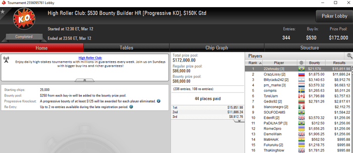 Lobby de poker do PokerStars