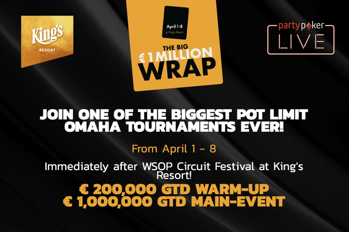 Фестиваль Big Wrap PLO в Kings - €1.2 млн гарантированы 102