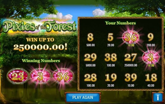 pixies of the forest scratch card game free play