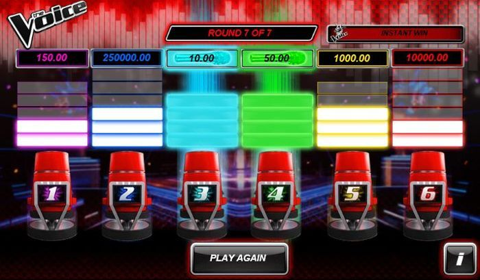 the voice scratch card game online