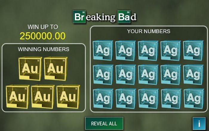 breaking bad scratch card game online