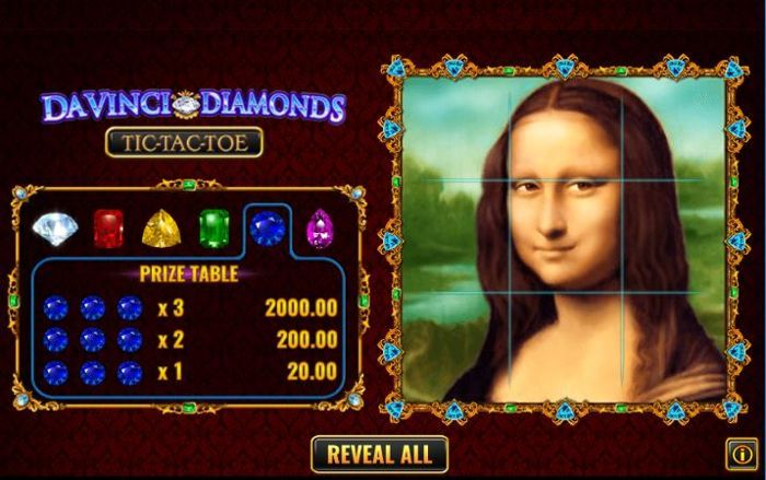 da vinci diamonds scratch card online