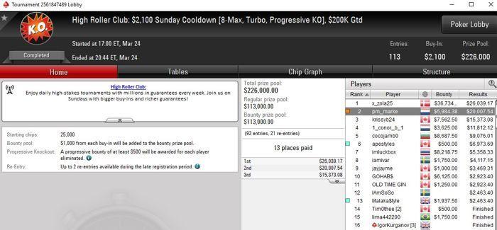 Lobby de poker da PokerStars