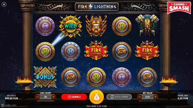 fire lighting bitcoin slot game