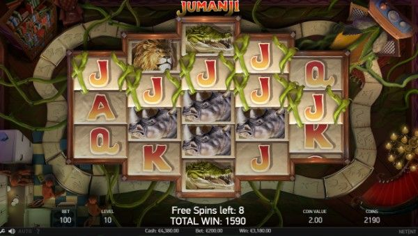 jumanji game online sticky vines feature