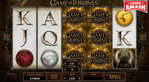 game of thrones slots microgaming