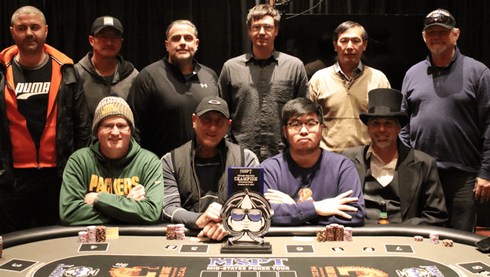 2019 MSPT Wisconsin State Poker Championship final table