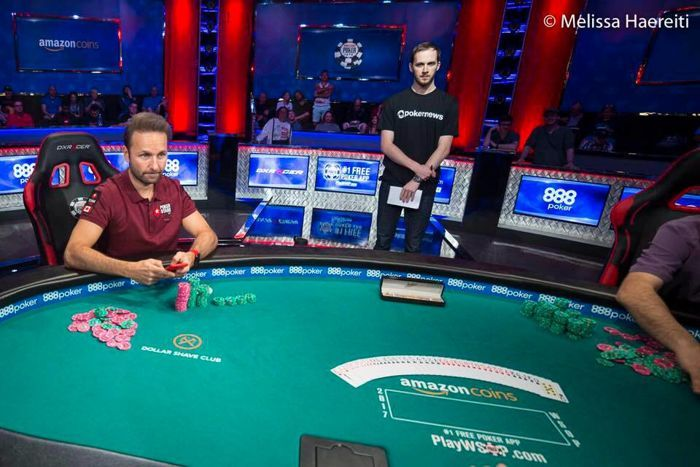 PokerNews Chief Editor Will Shillibier reporting from a World Series of Poker final table