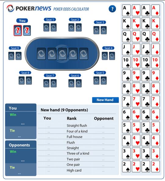 Poker odds calculator pre flop betting bordeaux vs psg betting