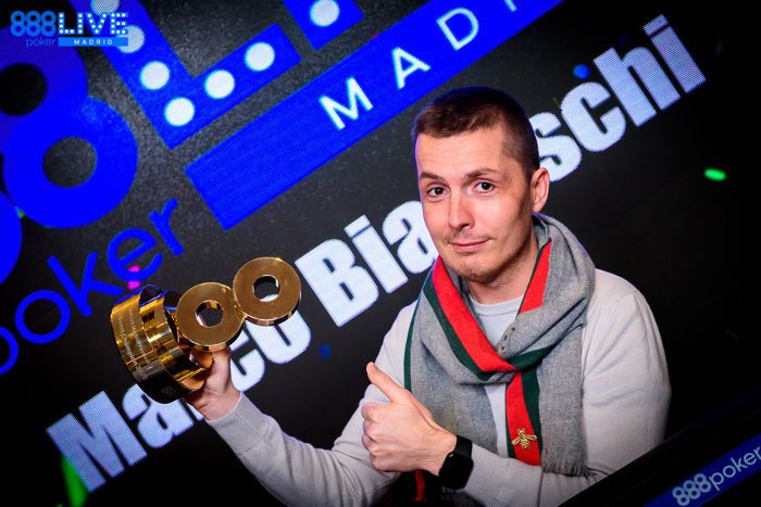 Marco Biavaschi wins 2020 888poker LIVE Madrid Main Event