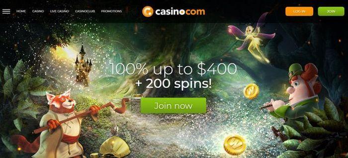 Registrieren Sie sich bei Casino.com, um einen Bonus zu erhalten und Android-Spielautomaten um Bargeld zu spielen