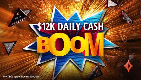 """Boom Kas Harian """"class ="""" content-img lazyload """"/>    <figcaption/> </figure> <p> BOOM Tunai Harian juga telah kembali dan lebih besar dari edisi sebelumnya. Empat turnamen dengan hadiah gabungan dari $ 12.000 terjadi setiap hari dan mudah untuk dicapai. </p> <p> Ada turnamen Daily Cash Boom seharga $ 1.000 dan $ 6.000 untuk permainan uang dan pemain cepat. Ada juga turnamen Boom Uang Harian $ 1.000 dan $ 4.000 untuk pemain SPINS. </p> <p> Anda dapat memenuhi syarat untuk satu dari setiap jenis turnamen per hari setelah Anda memilih dan mendapatkan total poin yang diperlukan. Total ini sangat rendah sehingga Anda harus dapat dengan mudah bermain di kedua turnamen yang dijamin lebih besar. </p> <p> Hanya satu poin yang diperlukan untuk bermain di turnamen Daily Cash Boom seharga $ 1.000 untuk permainan uang dan pemain cepat, dan hanya lima poin untuk edisi $ 6.000. $ 1.000 dimulai pada 6:15 malam. CET dengan versi $ 6.000 menyeret 7:30 malam. CET. </p> <p> Pemain SPINS perlu menghasilkan satu poin untuk bermain di turnamen $ 1.000 mereka, yang dimulai pukul 8:30 malam. CET. Hasilkan hanya dua poin untuk dimainkan dalam edisi $ 4.000 pukul 10.15 malam. CET setiap hari. </p> <p> Semua turnamen Daily Cash Boom dimainkan sebagai """"all-in atau fold"""" sehingga Anda dapat meninggalkannya begitu saja setelah Anda terdaftar dan biarkan Lady Luck mengurus hasilnya! </p> <hr style="""