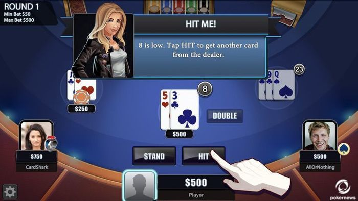 play blackjack with friends android app