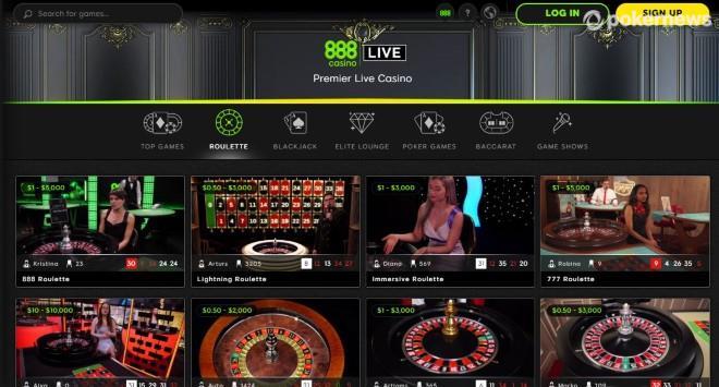 888casino live dealer roulette