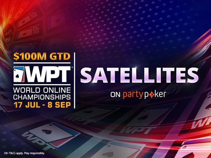 Anda akan menemukan lusinan satelit WPT di partypoker