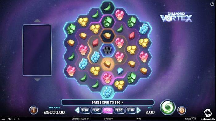 New Play n go slot: Diamond Vortex