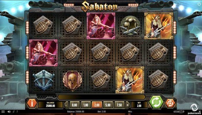 Sabaton New Slot Play n Go