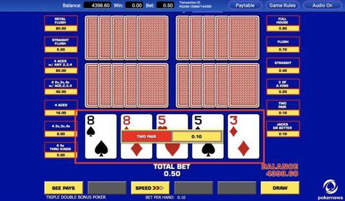 lima bermain video poker gratis