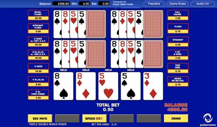 menggambar permainan video poker gratis