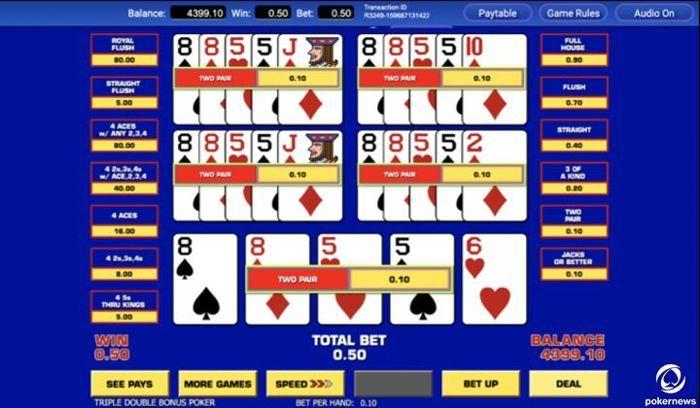 5 bermain video poker