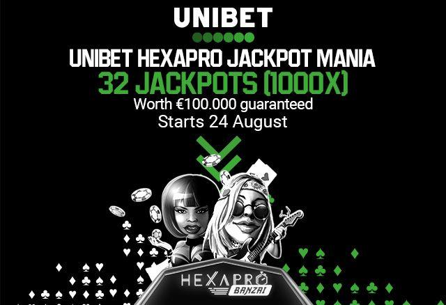 Unibet Hexapro Jackpot Mania
