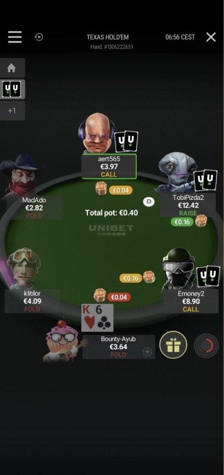 نرم افزار Unibet Poker
