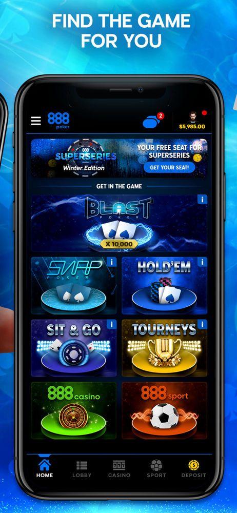 888poker mobile app portrait lobby