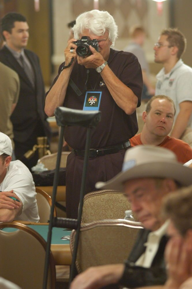 Ulvis Alberts snaps a photo of Doyle Brunson