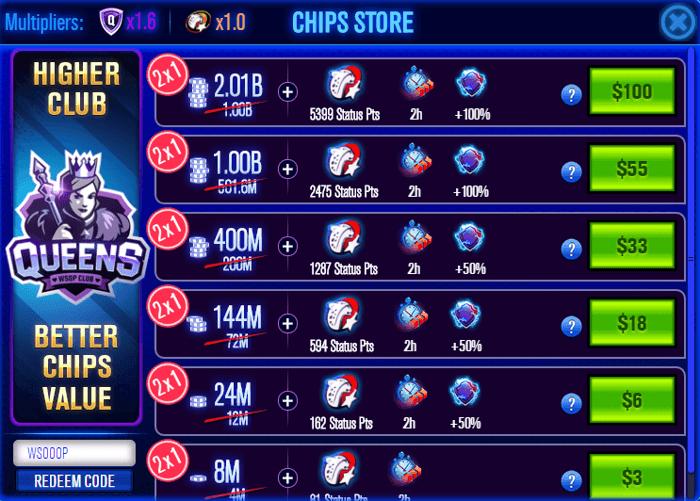 World Series of Poker Free Online Game Redeem Bonus Code
