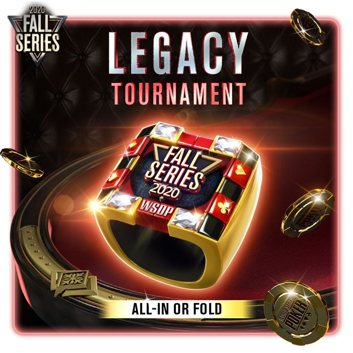Fall Series 2020 WSOp App Legacy All In or Fold