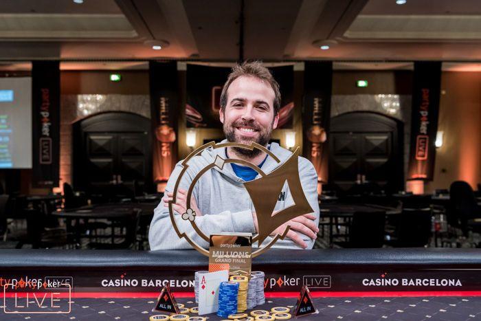 Pascal Lefrancois memenangkan Grand Final partypoker 2018 JUTAAN LANGSUNG Barcelona