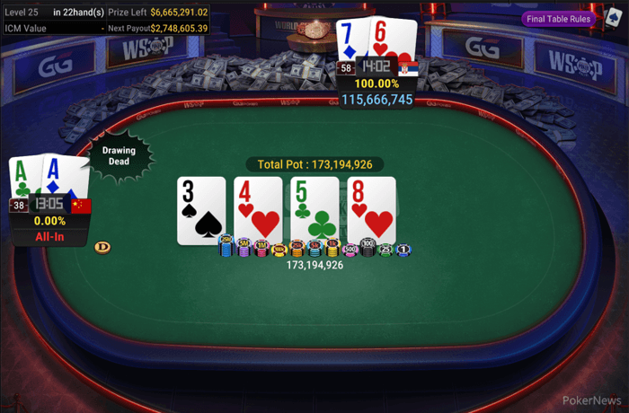 The final hand of the 2020 WSOP Online Main Event
