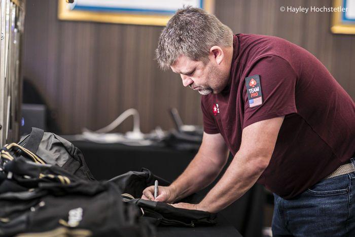 Chris Moneymaker Signing Bags
