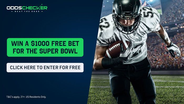 Taruhan Gratis OddsChecker US Super Bowl $ 1000