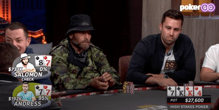 Rick Salomon melawan John Andress