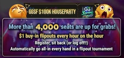 GGPoker Spring Festival Houseparty freeroll tournament