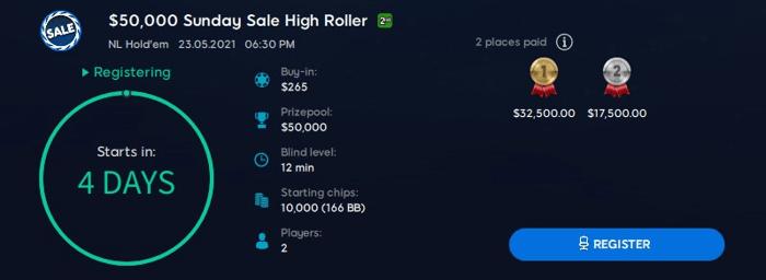 Sunday Sale High Roller